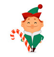funny santa claus helper elf vector image