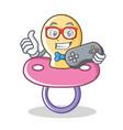 gamer baby pacifier character cartoon