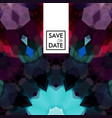 geometric shaped pattern with save the date text vector image vector image