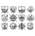 golf sport club championship heraldic icons vector image vector image