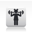 gym girl icon vector image vector image