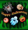 halloween night blurred background vector image vector image