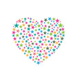 heart consist of stars icon design vector image