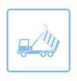 icon of tipper vector image vector image