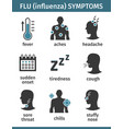 icons set flu symptoms influenza with a vector image vector image