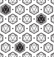 icosahedron pattern vector image vector image