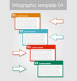 infographic visualization template abstract with vector image vector image