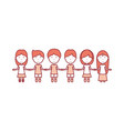 kids holding hands icon vector image