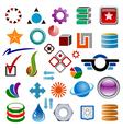 logo designer vector image vector image