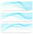 Modern blue wave speed line banners set vector image vector image