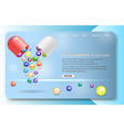 multivitamins and minerals landing page website vector image vector image