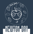 newton day banner black vector image