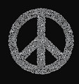 peace sign hippie vector image