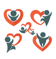 people and heartsi vector image vector image
