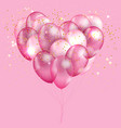 pink balloon heart background vector image vector image