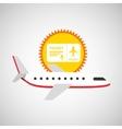 plane white sun symbol travel ticket design vector image vector image