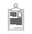 resume or curriculum vitae cv icon image on vector image