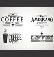 retro vintage coffee design collection 0653 vector image vector image