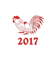 Rooster in a folk style vector image
