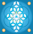 Sacred Geometry flower of life blue seed vector image vector image