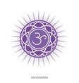 sahasrara crown chakra yoga ayurveda reiki symbol vector image vector image