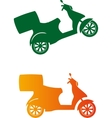 Scooter silhouette - Fast Delivery Service vector image vector image