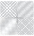 seamless pattern set ft vector image vector image