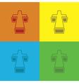 set crosses vector image