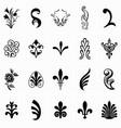 set flourish design elements vector image vector image