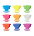 set of colorful ceramic bowls vector image vector image