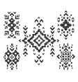 set of hand drawn tribal design vector image