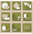 Set of icons of kitchen utensils vector image