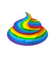 shit rainbow unicorn turd fantastic legendary vector image vector image
