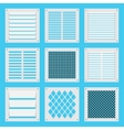 square ventilation shutters vector image