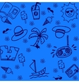 summer of doodle with blue backgrounds vector image