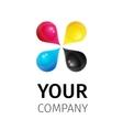 template CMYK logo vector image