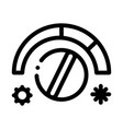 termostat heating and cooling detail icon vector image