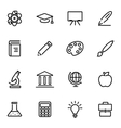 thin line icons - education vector image