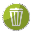 trash can button icon image vector image