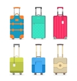 Travel colorful suitcase isolated set vector image vector image