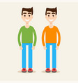 twins together vector image vector image