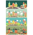 Urban landscape of four seasons vector image vector image