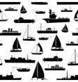 various transportation navy ships icons seamless vector image