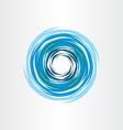 water vortex blue icon abstract background vector image vector image