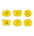 whistle bio shopping and globe icons set swipe vector image vector image