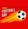 world football day concept banner flat style vector image vector image