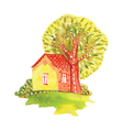 watercolor house vector image