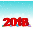 new year background 2018 vector image
