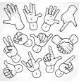 sketching hands vector image