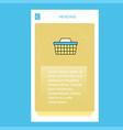 basket mobile vertical banner design design vector image vector image